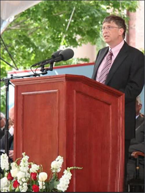 比尔盖茨哈弗大学演讲